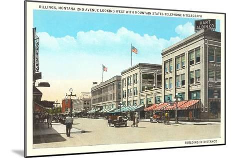 Downtown Billings, Montana--Mounted Art Print