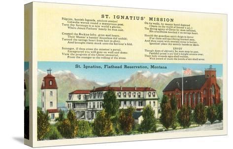 St. Ignatius Mission, Montana--Stretched Canvas Print