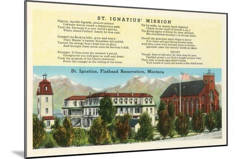 St. Ignatius Mission, Montana--Mounted Art Print