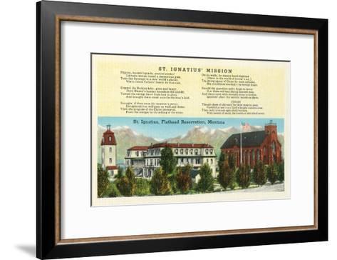 St. Ignatius Mission, Montana--Framed Art Print