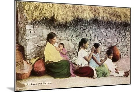 Nitpicking Beggars, Mexico--Mounted Art Print