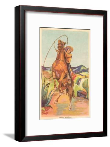 Mexican Cowgirl--Framed Art Print