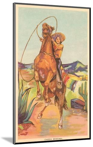 Mexican Cowgirl--Mounted Art Print