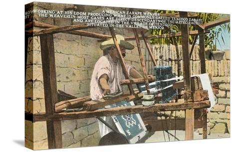 Serape Weaver, Texcoco, Mexico--Stretched Canvas Print