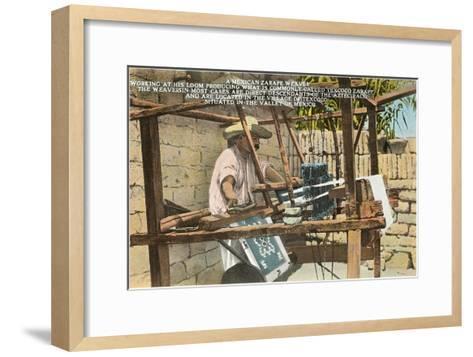 Serape Weaver, Texcoco, Mexico--Framed Art Print