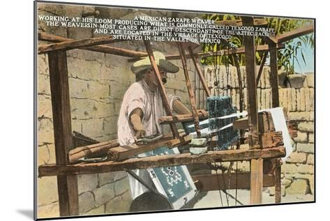 Serape Weaver, Texcoco, Mexico--Mounted Art Print