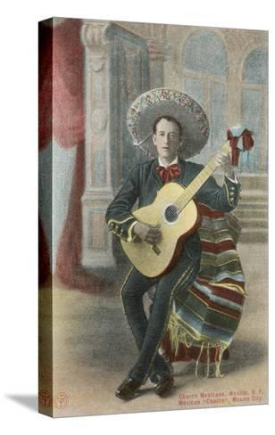 Charro Playing Guitar, Mexico--Stretched Canvas Print