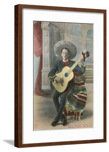 Charro Playing Guitar, Mexico--Framed Art Print