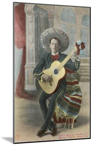 Charro Playing Guitar, Mexico--Mounted Art Print