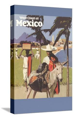 Travel Poster for West Coast of Mexico--Stretched Canvas Print