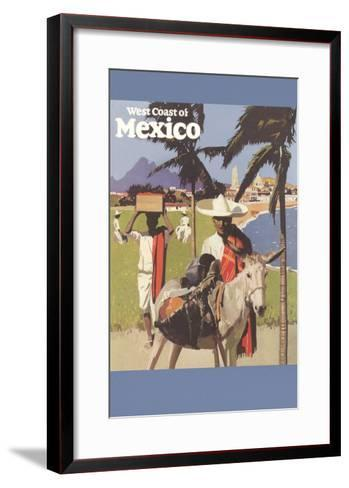 Travel Poster for West Coast of Mexico--Framed Art Print