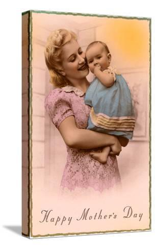 Happy Mothers Day, Mother and Child--Stretched Canvas Print