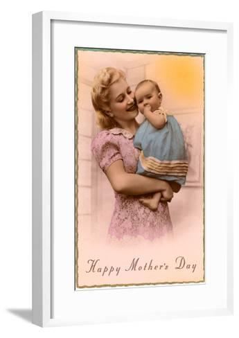 Happy Mothers Day, Mother and Child--Framed Art Print