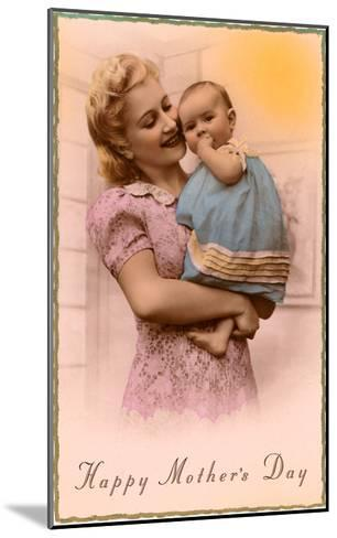 Happy Mothers Day, Mother and Child--Mounted Art Print