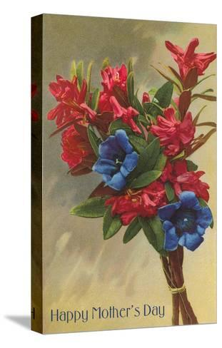 Happy Mothers Day, Rhododendrons--Stretched Canvas Print