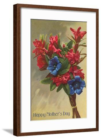 Happy Mothers Day, Rhododendrons--Framed Art Print