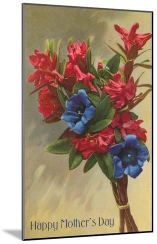 Happy Mothers Day, Rhododendrons--Mounted Art Print