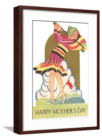 Happy Mothers Day, Lady Golfer--Framed Art Print