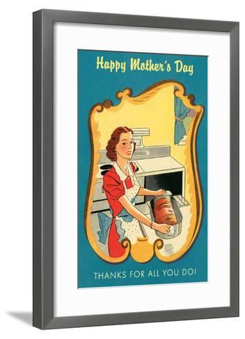 Mother's Day Thanks, Cooking--Framed Art Print