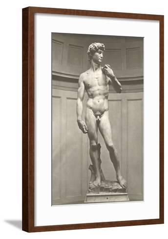 Michelangelo's David--Framed Art Print