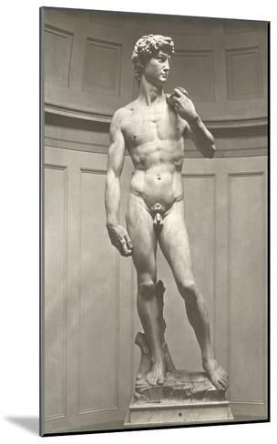 Michelangelo's David--Mounted Art Print