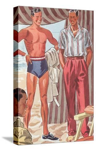 Men Modeling Clothes--Stretched Canvas Print