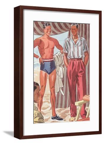 Men Modeling Clothes--Framed Art Print
