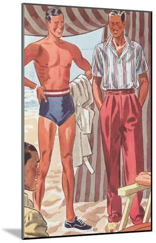 Men Modeling Clothes--Mounted Art Print