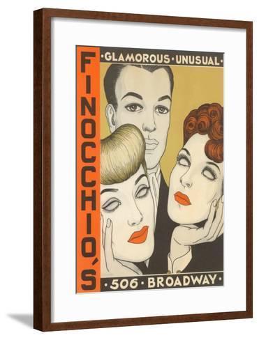 Finocchio's Show Advertisement--Framed Art Print