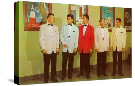 Men Modeling Tuxedos--Stretched Canvas Print