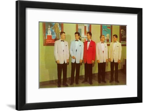 Men Modeling Tuxedos--Framed Art Print