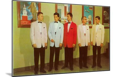 Men Modeling Tuxedos--Mounted Art Print