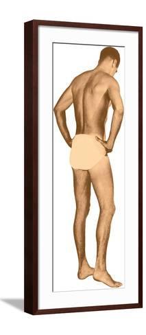 Man in Jockey Shorts--Framed Art Print