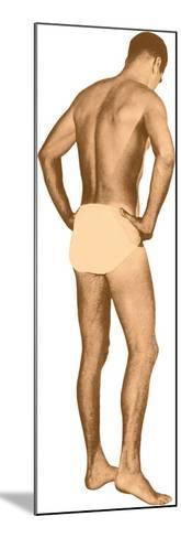 Man in Jockey Shorts--Mounted Art Print