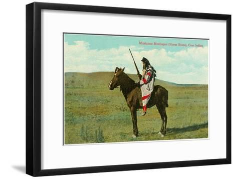Mustatem Moutiapec on Horseback, Cree Indian--Framed Art Print