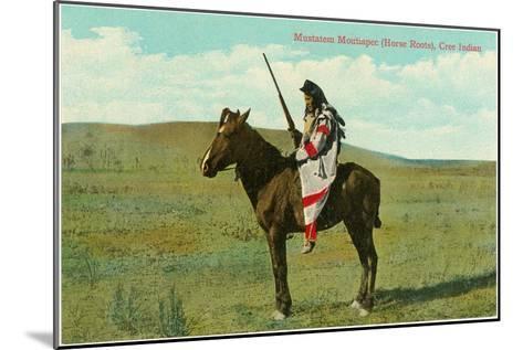 Mustatem Moutiapec on Horseback, Cree Indian--Mounted Art Print