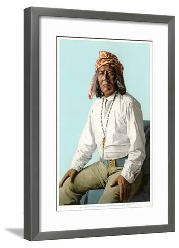 White Mountain Apache Government Scout--Framed Art Print