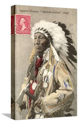 Spotted Weasel, Ecureuil Tachete, Plains Chief--Stretched Canvas Print