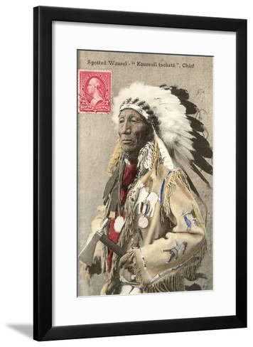 Spotted Weasel, Ecureuil Tachete, Plains Chief--Framed Art Print