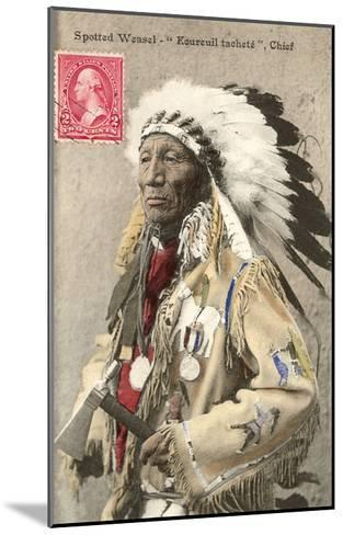 Spotted Weasel, Ecureuil Tachete, Plains Chief--Mounted Art Print