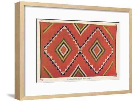 Navajo Blanket--Framed Art Print