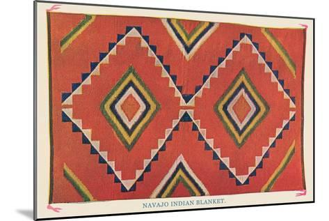 Navajo Blanket--Mounted Art Print