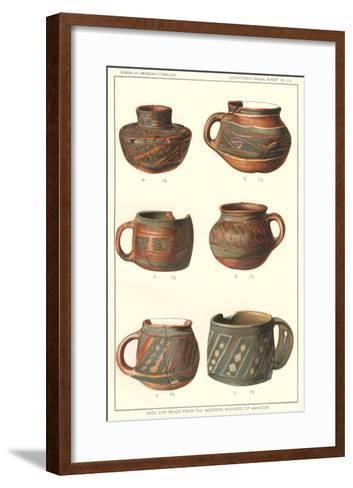 Vase and Mugs from Awatobi--Framed Art Print