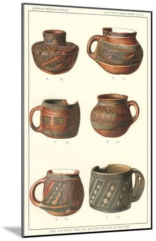 Vase and Mugs from Awatobi--Mounted Art Print