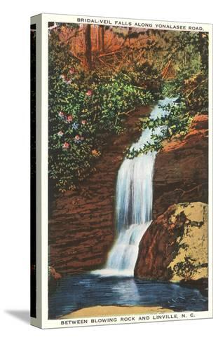 Bridal Veil Falls, Linville, North Carolina--Stretched Canvas Print
