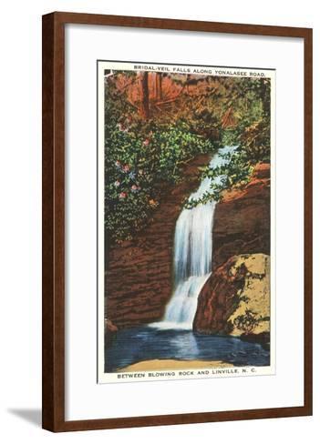 Bridal Veil Falls, Linville, North Carolina--Framed Art Print