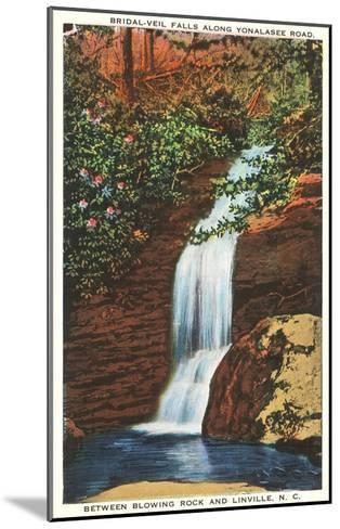 Bridal Veil Falls, Linville, North Carolina--Mounted Art Print