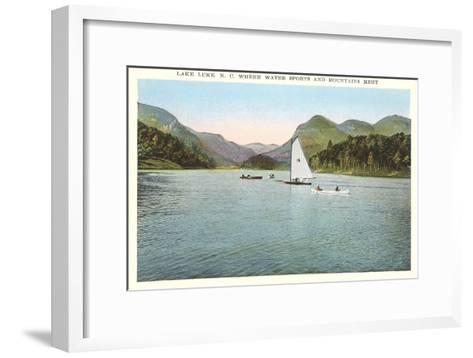 Lake Lure, North Carolina--Framed Art Print