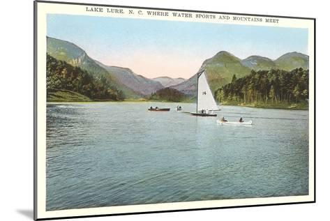 Lake Lure, North Carolina--Mounted Art Print