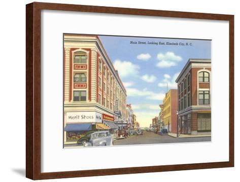 Main Street, Elizabeth City, North Carolina--Framed Art Print